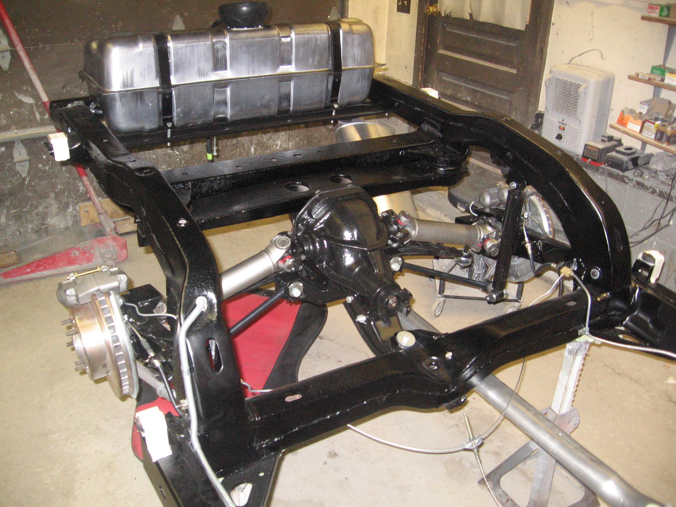 Chassis Rebuild Blue Corvette